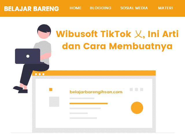 Wibusoft TikTok 乂, Ini Arti dan Cara Membuatnya